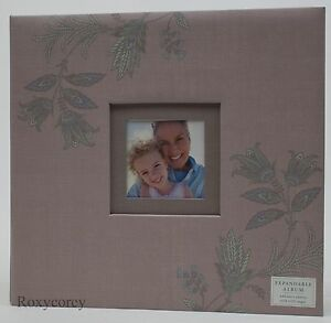 Hallmark 12x12 Expandable Photo Album with 8 clear Insert Sheets NWT
