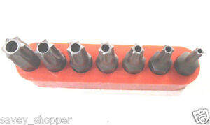 7PC. TAMPER PROOF SECURITY STAR/TORX BIT SET #10-40