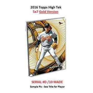 2016 Topps High Tek 5x7 GOLD Version # 10 Made HENRY OWENS Red Sox RC