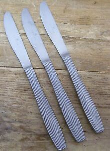 Joseph Abboud 3 Dinner Knife Stainless China 18 10 Ribbed Handle JAB4 Lines