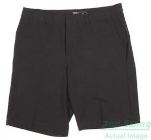 New Mens Nike Golf Flat Front Stretch Woven Shorts Size 33 Gray MSRP $75 725702