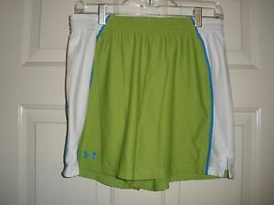 #380 Misses Shorts M Under Armour Loose Training Bright neon Green Running White