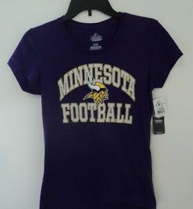 Minnesota Vikings Football T-Shirt Top Officialy Licensed Women's Size Small
