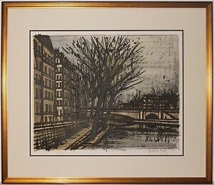 Listed French Artist Bernard Buffet Original Signed Color Lithograph $2200.00