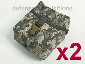 SET OF 2 NEW Military Issue ACU IFAK MOLLE First Aid Pouch / Large Utility Pouch