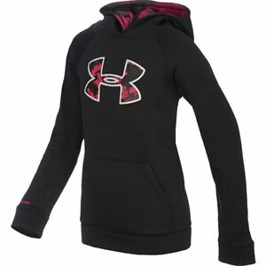 Girl's Under Armour Big Logo Hoodie Power in Pink YS  New with Tags