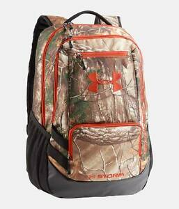 Under Armour Camo Hustle Backpack 1247302-946 Realtree Ap Xtra  Dynamite