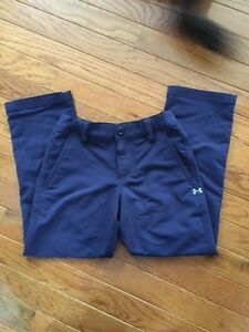 Boys Youth Under Armour Utility Golf Pants Navy XS