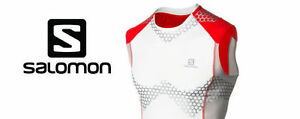 New Salomon S-Lab Exo Tank Top Running Compression Trail Race Shirt - Mens Small
