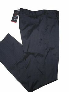 Under Armour men's black pin striped Golf Pants size 34 unhemmed long nwt