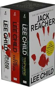 Lee Child Jack Reacher 3 Books Boxed Set Collection Set Killing Floor Die Trying
