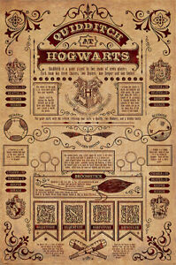 HARRY POTTER MOVIE POSTER QUIDDITCH AT HOGWARTS SIZE: 24quot; x 36quot;