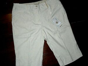 NIKE Fit Dry womens  tan plaid Golf SHORTS size  8