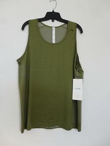 NWT LULULEMON BRVO Green Sleeveless Metal Vent Tech Tank Top Shirt Men's Large L