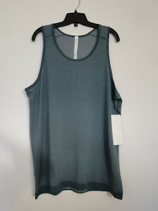 NWT LULULEMON DPGE Deep Green Sleeveless Metal Vent Tech Tank Top Shirt Men's XL