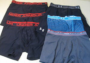 6 pc lot Under Armour Mens XL Baselayer Boxer Shorts Excellent Used!