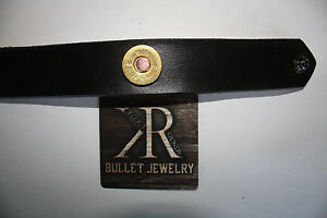 Bullet Bracelet jewelry. 12 Gage Casing Mounted in Genuine Leather. Made in USA!