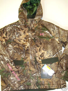 NWT Womens Under Armour Quest Camouflage Hunting Jacket Coat 2XL Storm