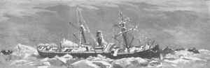 SEASCAPES. Icebound Baltic ship West Stanley antique print 1881 GBP 9.99