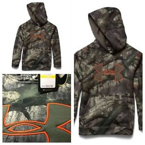 Under Armour NEW $59.99 UA Youth Camo Hoody Mossy Oak Treestand 1249748-906 YMD