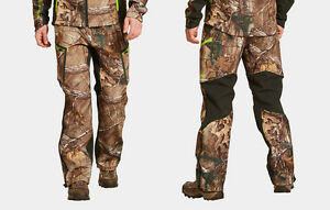 $180 Under Armour Mens ColdGear Infrared Scent Control Hunting Pants Camo XL 42