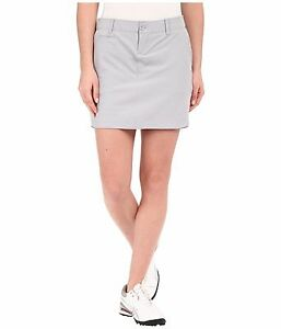 New Under Armour Womens Gray Golf Links Woven Water Resistant Breathable Skort 4