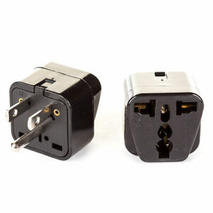 OREI 2 in 1 Universal to USA Type B Travel Adapter Plug 2 Pack