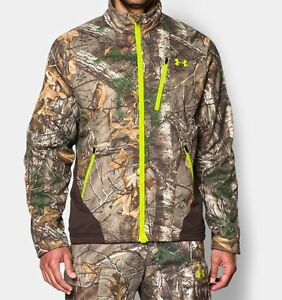 $150 Under Armour Mens ColdGear Infrared Scent Control Hunting Jacket Camo Small