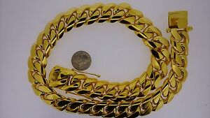 1 Kilo 10k Solid Gold Miami Cuban Link Chain Necklace 24mm 25 inch Best Price