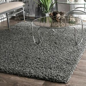 nuLOOM Shaggy Contemporary Modern Soft Plush Shag Area Rug in Solid Gray $141.99