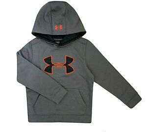 Under Armour Big Boys Big Logo Fleece Hoodie Storm1 Water Resistant Youth Medium