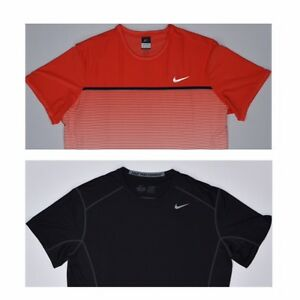 Lot X2 Nike Mens Pro Combat Fitted Dry Base Layer T-Shirt Tee Size XXL