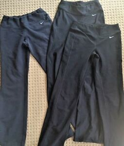 Lot of 3 NIKE Fit Dry Black Running Pants size XS Run Cycle Spin Run Lounge