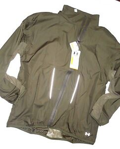 UNDER ARMOUR  womens Stunner olive Running Jacket MEDIUM retail $124