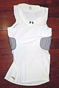 UNDER ARMOUR mens MPZ compression padded White Basketball Shirt size XXL