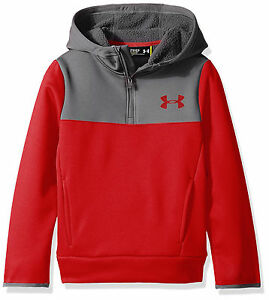 Under Armour STORM ARMOUR FLEECE REDGRAY BOYS SIZE XL Youth Sweatshirt NWT