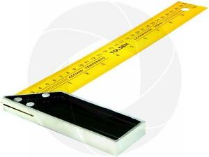 12 inches 30cm Construction Carpenter Ruler L Shape 90 Angle Square Steel Ruler $8.09