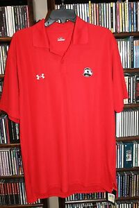 Under Armour National Bohemian Beer Red Polo Shirt NEW NWT Mens M    (bin94)
