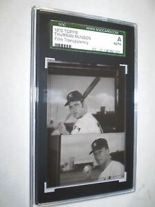 1970 TOPPS VAULT THURMAN MUNSON ROOKIE 189 FILM TRANSPARENCY 11 EXTREMELY RARE