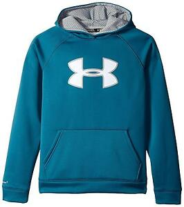 Under Armour Youth Boys Fleece Storm Big Logo Hoody Legion Blue Steel Large