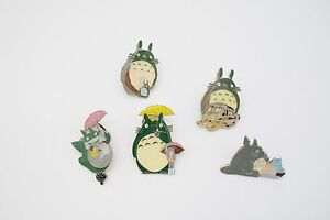 5 pcs My Neighbor Totoro Chibi Totoro Metal Pin Badge Set