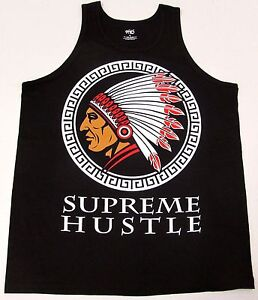 Indian Warrior Tank Top T-shirt Chiefin Native American Chief Men M-3XL New