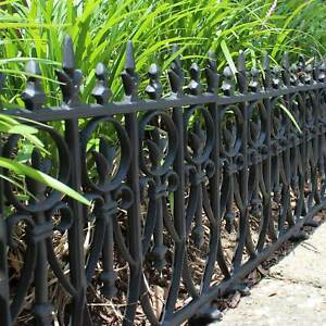 Victorian Garden Fence Heavy Antique Style Old English Lawn Edging Aluminum $43.95
