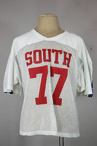 Vintage mesh cut off t-shirt XL 80's 90's football jersey south stars
