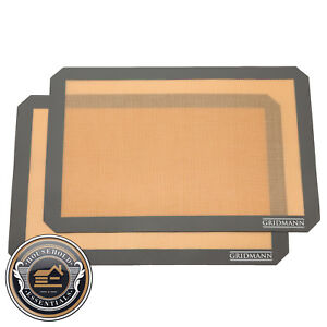 2 Non Stick Silicone Baking Mats Tray Pan Liners Half Sheet 16 1 2quot; x 11 5 8quot;