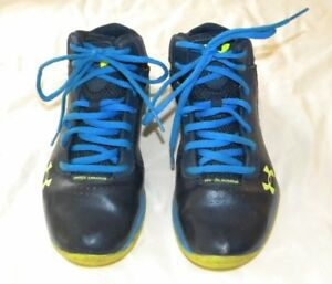 Under Armour Boys Girls Youth Blue Basketball Athletic Sneakers Shoes Size 4 Y