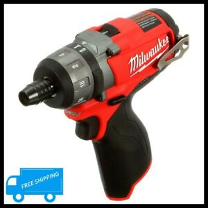 Cordless Hex Screwdriver 12 Volt Lithium Ion 2 Speed Drill Portable Power Tool