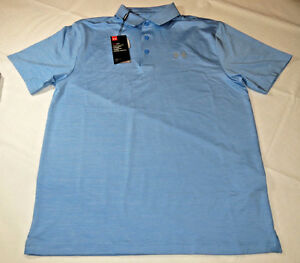 Under Armour UA HeatGear Golf UPF 30 Loose Polo shirt Mens M 1253479 465 blue
