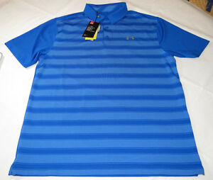 Under Armour UA HeatGear UPF 30 Loose Polo shirt Mens L 1306652 royal blue 789