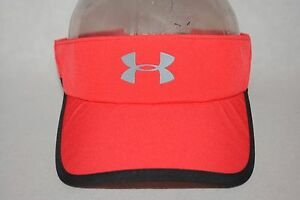 New Under Armour UA Shadow Visor Women's Girls' Red Golf Adjustable Hat Cap OSFA